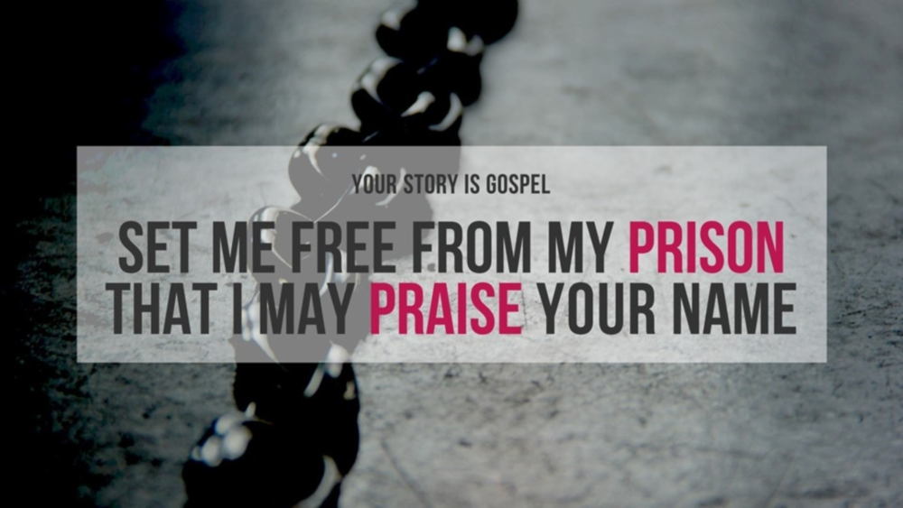 Set Me Free From My Prison That I May Praise Your Name Image